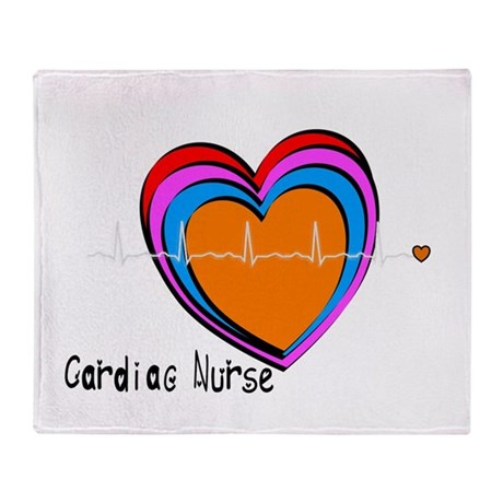 Cardiac Nurse Throw Blanket