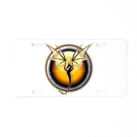 Yellow Air Dragon Aluminum License Plate