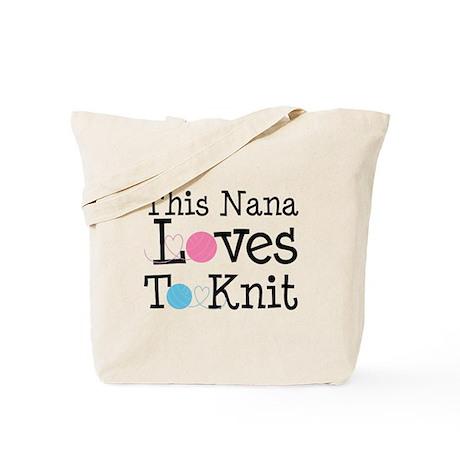 Nana Loves Knitting Tote Bag