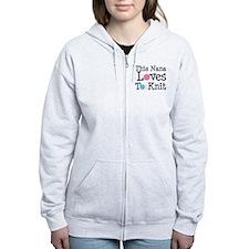 Nana Loves Knitting Zip Hoodie