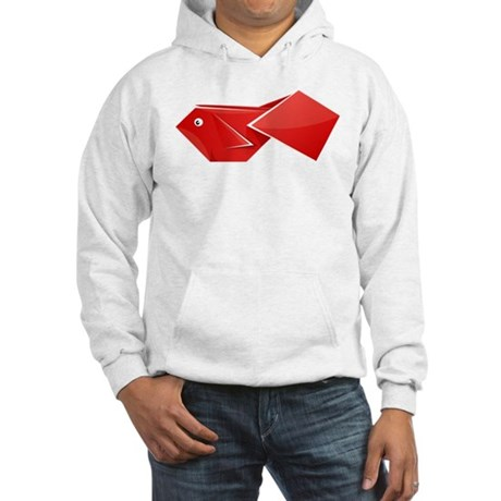 Origami Fish Hooded Sweatshirt