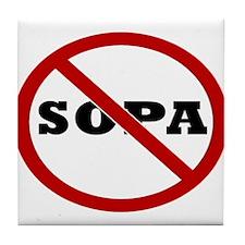 No SOPA Tile Coaster