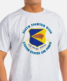 355th Fighter Wing with Text T-Shirt