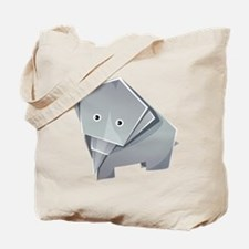 Origami Elephant Tote Bag