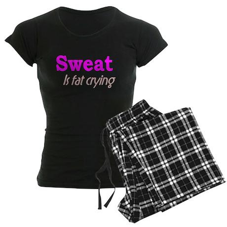 Sweat Is Fat Crying Women's Dark Pajamas