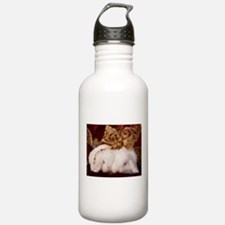 Christmas Bow Bunnies Water Bottle