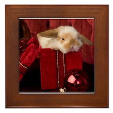 Christmas Bunny Framed Tile