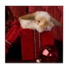 Christmas Bunny Tile Coaster