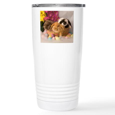 Easter Bunnies Stainless Steel Travel Mug