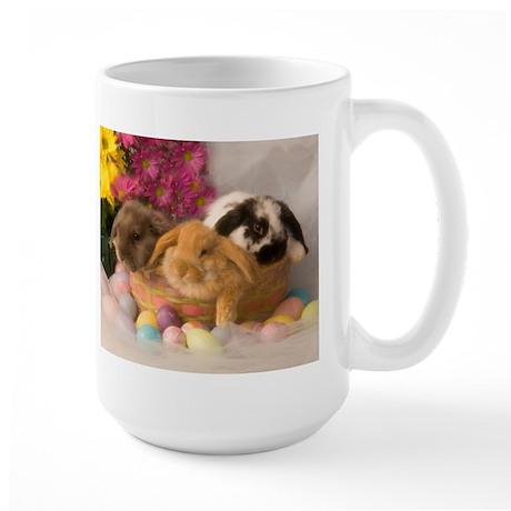 Easter Bunnies Large Mug