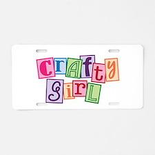 Crafty Girl Aluminum License Plate