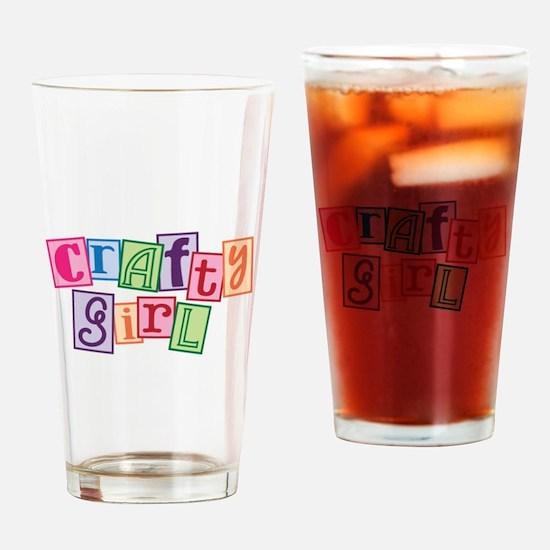 Crafty Girl Drinking Glass