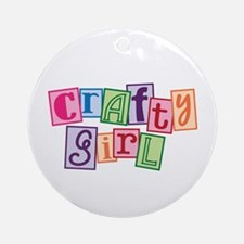 Crafty Girl Ornament (Round)