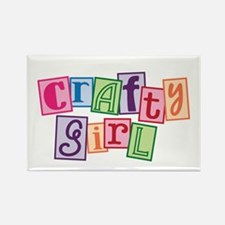 Crafty Girl Rectangle Magnet (10 pack)