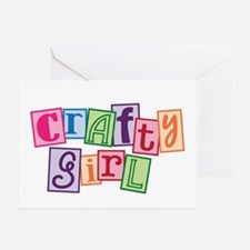 Crafty Girl Greeting Card