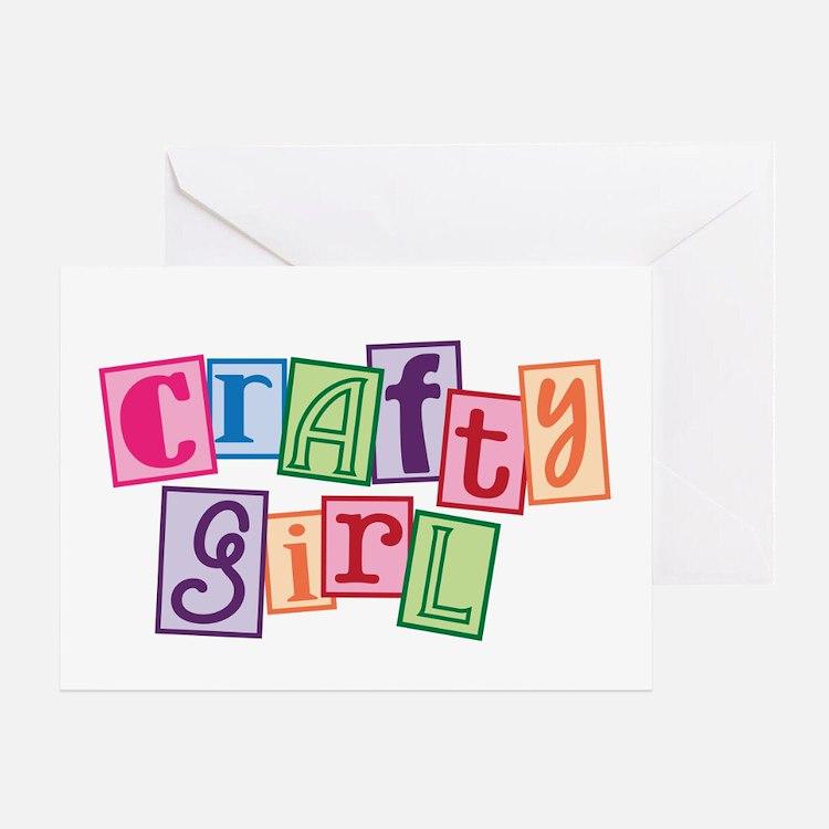 Crafty Girl Greeting Card