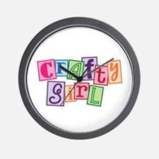 Crafty Girl Wall Clock