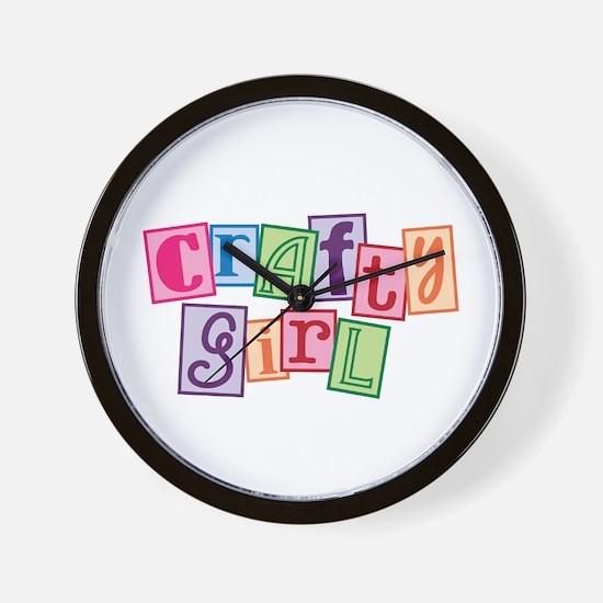 Crafty Girl Wall Clock