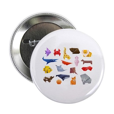 """Origami Animals 2.25"""" Button (100 pack)"""