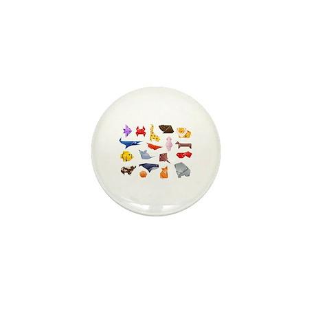 Origami Animals Mini Button