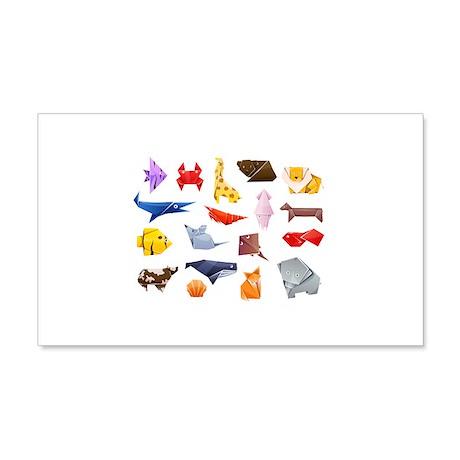 Origami Animals 22x14 Wall Peel