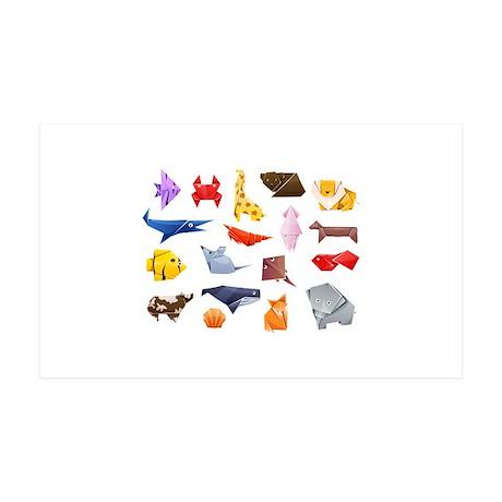 Origami Animals 38.5 x 24.5 Wall Peel