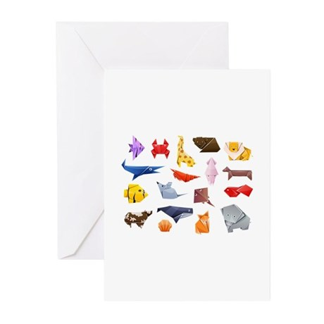 Origami Animals Greeting Cards (Pk of 10)