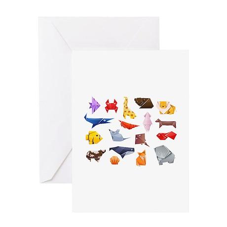 Origami Animals Greeting Card