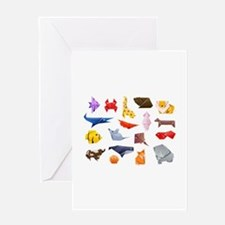 Origami Animals Greeting Card