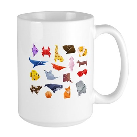 Origami Animals Large Mug