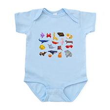 Origami Animals Infant Bodysuit