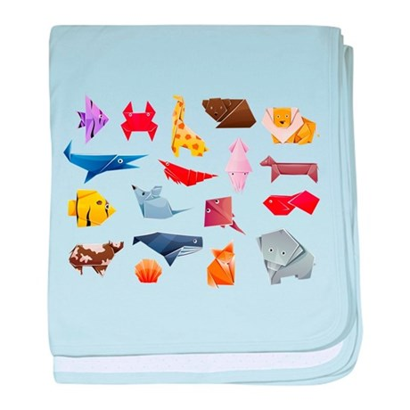 Origami Animals baby blanket