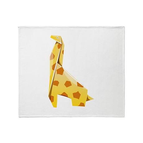 Origami Giraffe Throw Blanket