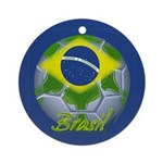 Futebol Brasileiro Ornament (Round)