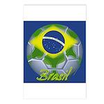 Futebol Brasileiro Postcards (Package of 8)