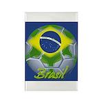 Futebol Brasileiro Rectangle Magnet (100 pack)