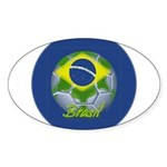 Futebol Brasileiro Oval Sticker