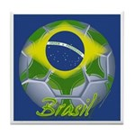 Futebol Brasileiro Tile Coaster