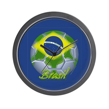 Futebol Brasileiro Wall Clock