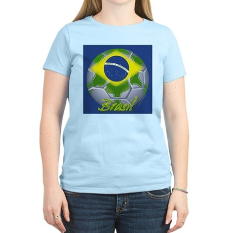 Futebol Brasileiro Women's Pink T-Shirt