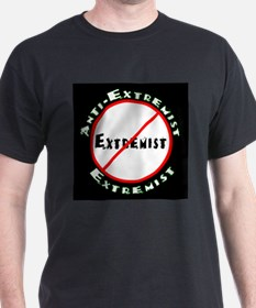 Anti-Extremist Black T-Shirt