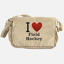 I Love Field Hockey Messenger Bag