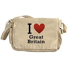 I Love Great Britain Messenger Bag