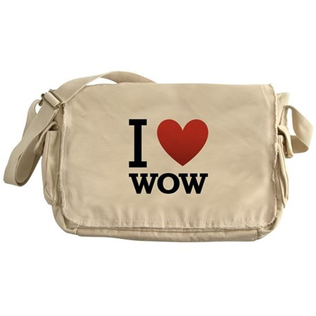 I Love WOW Messenger Bag