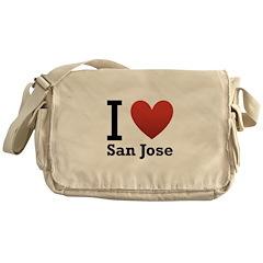 I Love San Jose Messenger Bag