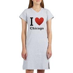 I Love Chicago Women's Nightshirt