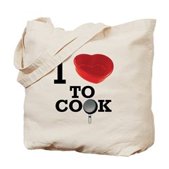 I Love to Cook Tote Bag