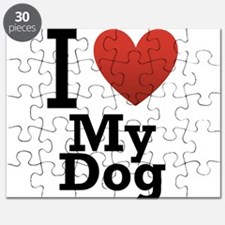 I Love My Dog Puzzle
