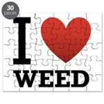 I Love Weed Puzzle