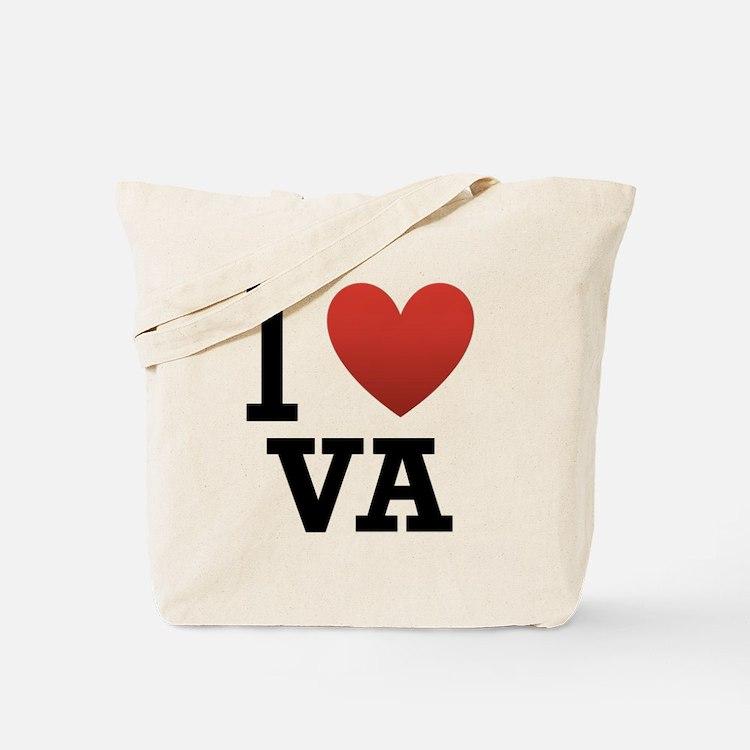 I Love Virginia Tote Bag